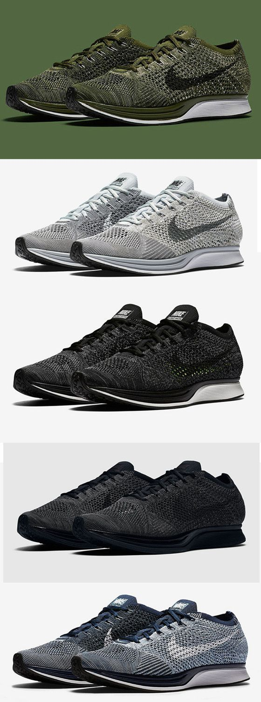Nike Flyknit Racer Smoke Gray,Olive Green,Cowboy Blue,Black Grey shoes #nike #Flyknit #Racer #nikeRacer #Smoke #Gray #olive: