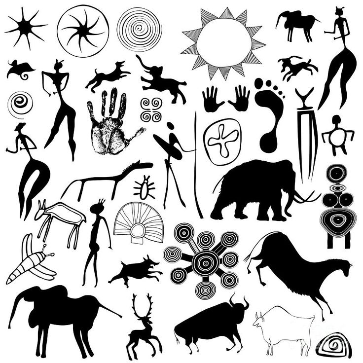 Is this Cave Painting style one we want to continue incorporating? Symbols by Michal Boubin