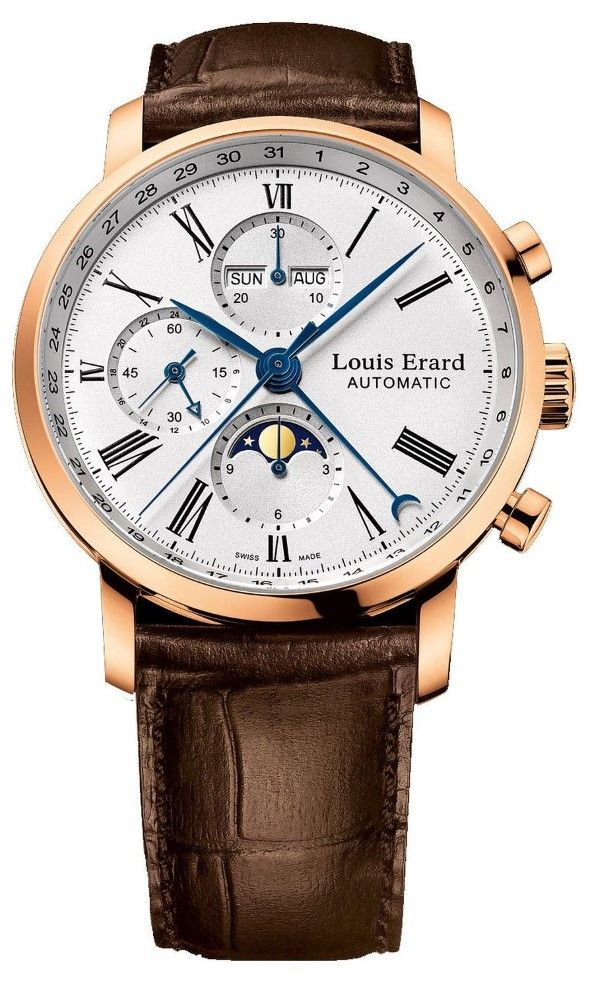 men watches Review for Louis Erard Gold Collection Swiss Automatic White Dial…