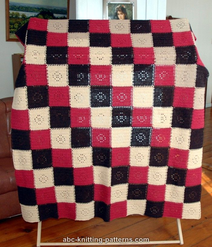 ABC Knitting Patterns - Happy Squares Seamless Modular Afghan
