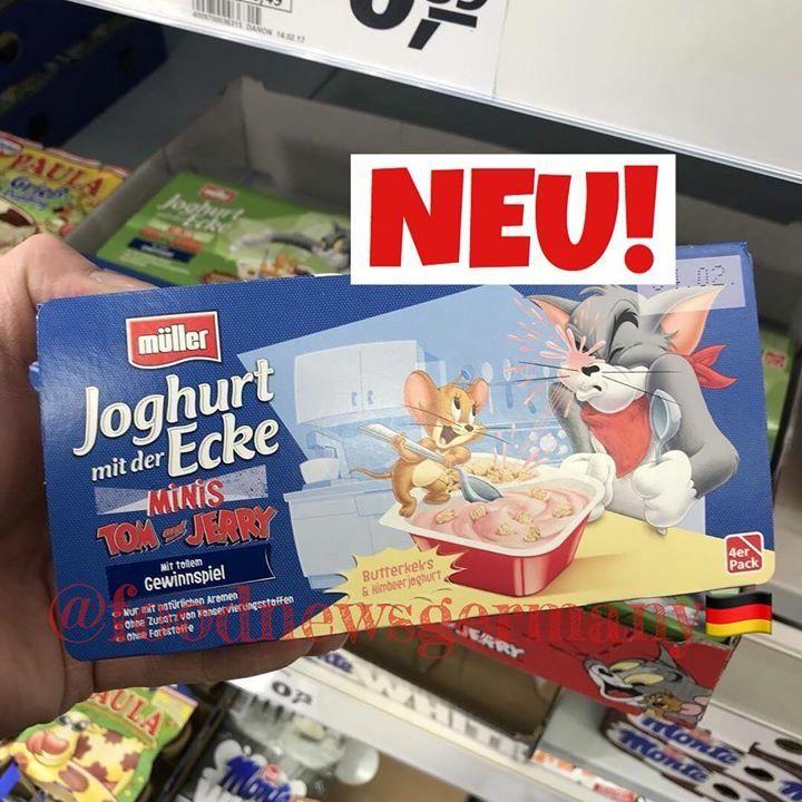 mÜller joghurt mit der ecke tom  jerry edition 🐾🐭🐱