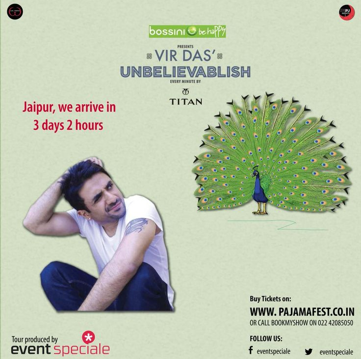 Jaipur here we Come, with our own beauty @thevirdas #UnbelievableTour #Jaipur