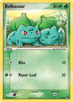 Bulbasaur Pop Series 2 Pokemon Card Google Search Pokemon Cards Amp Plushies Pinterest