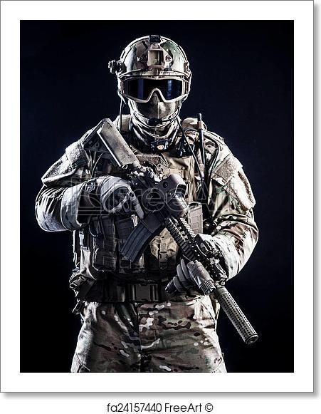 free art print of special forces soldier 米陸軍 海兵隊等
