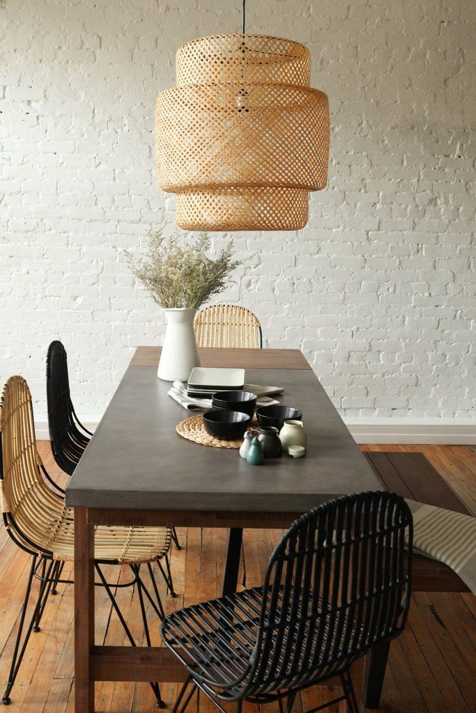 Best 25+ Concrete Dining Table Ideas On Pinterest | Concrete Table, Dinner  Tables Furniture And Dining Table Bench Seat