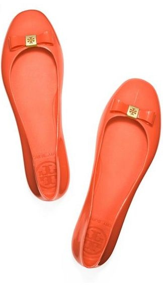 fabulous flats // tory burch. If these are rubber, they can be rain