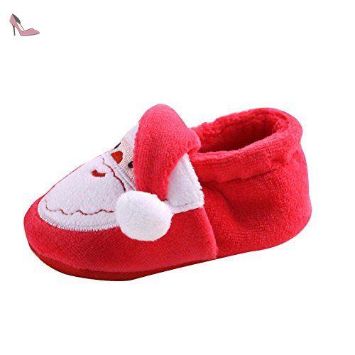 pour 0-18 mois Bébé fille, Amlaiworld Santa Claus chaussons fille garçon (11