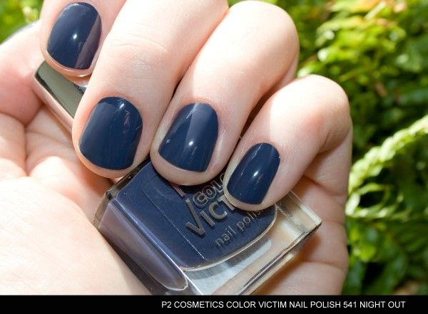 p2 Color Victim 541 Night Out! -- 'p2 COLOR VICTIM nail polish 541 night out in the sunlight with flash' #darkbluenails #nailsphotography #sunlight #bluenails