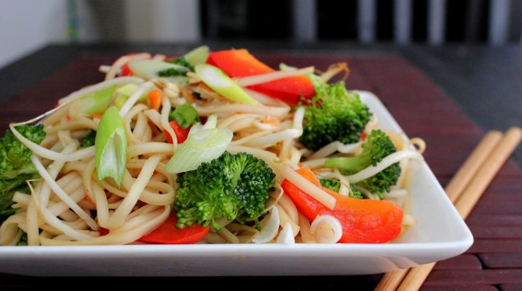 Recipe: Asian Noodle & Veggie Salad with Soy Vinaigrette | Poor Girl ...