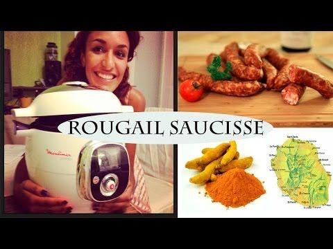 Recette Rougail saucisse facile avec le cookéo Moulinex - YouTube