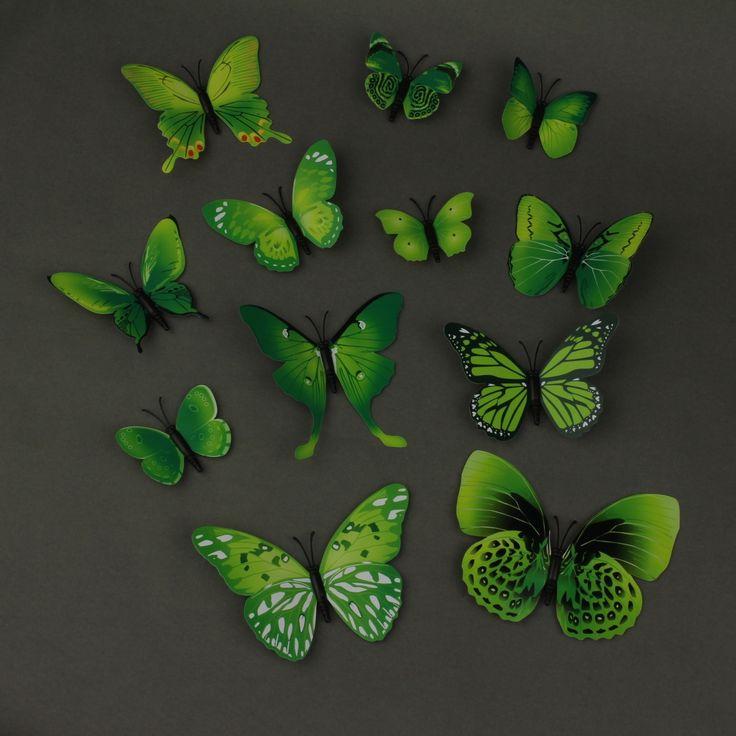 Väggdekor fjärilar 3d