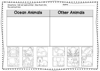 ocean animal sort freebie ocean theme pinterest teaching beaches and literacy. Black Bedroom Furniture Sets. Home Design Ideas