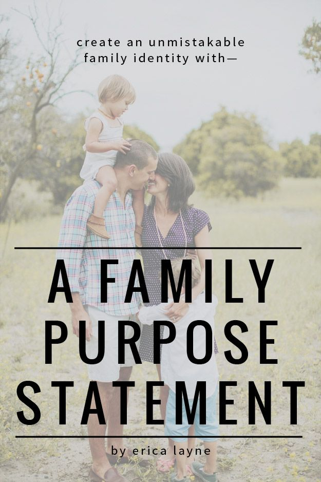Create an Unmistakable Family Identity with a Family Purpose Statement. This post shares 8 family mottos from real families. So fun and inspiring to read real examples!