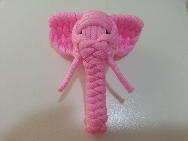 Paracord elephant tutorial. Tutorial de elefante con nudos en paracord.