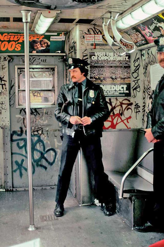 1970 NYC Subways - dirty, graffetti, cops on most trains, high crime, fear - the 1970s1980s were NOT our best time in NYC.