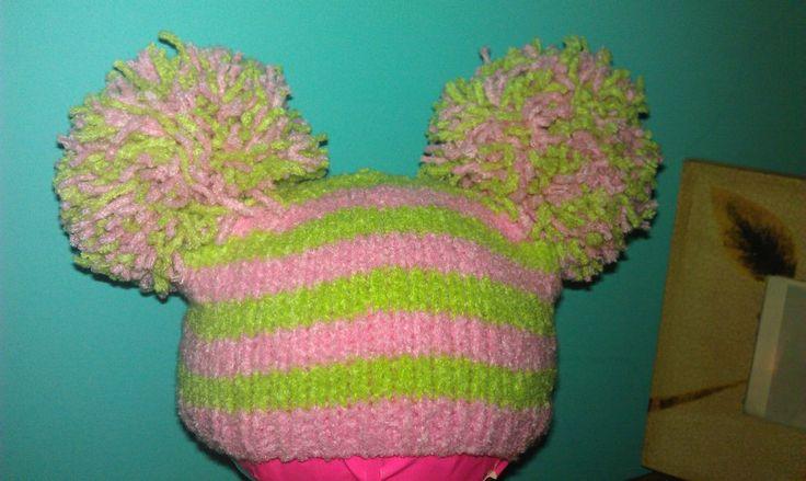 Knitting Pattern Pom Pom Hat Free : Stripe Pom Pom Hat - Free Pattern