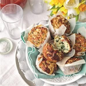Spinach, bacon and cheddar muffins Recipe   delicious. Magazine free recipes