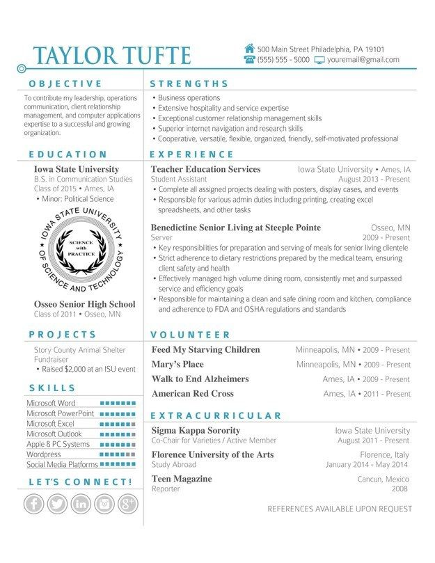 7 best CV images on Pinterest | Cv template, Resume templates and ...