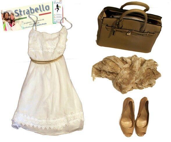 #Brugherio giugno 2015#Strabello donna: Vestito corto: 26,50 €; Sciarpa: 12,00 €; Borsa: 49,50 €; Cintura: 13,50 €; Scarpe: 39,00 €.