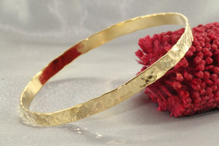 Shiny Bangles Hammered Gold Bangle Solid GOLD Bangles 14K GOLD Wide Bracelet For Women Shiny Hammered Bracelet Delicate Wide Bracelet gold14 by LIRANSHANI on Etsy