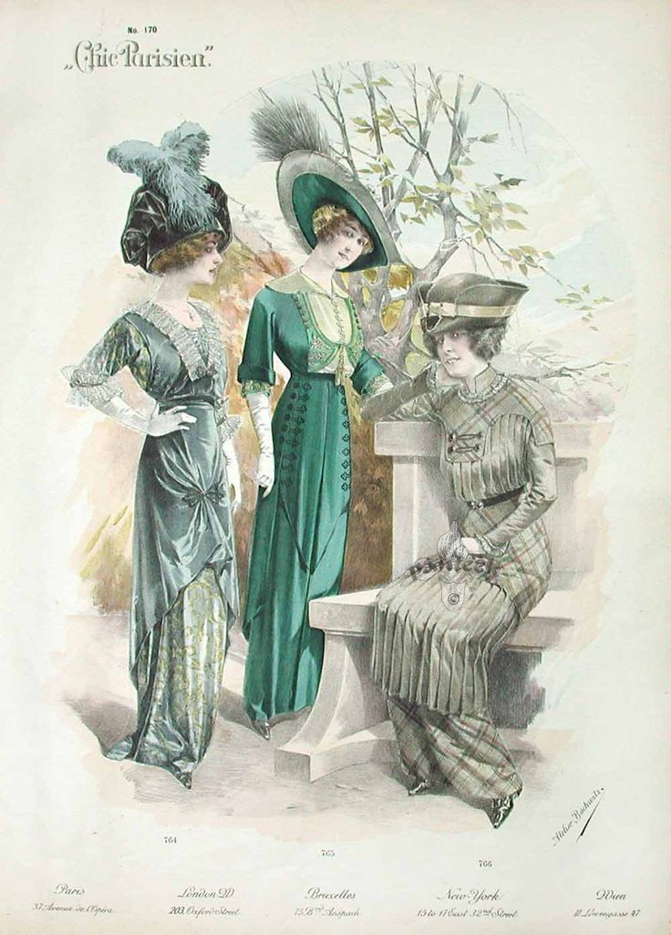 speedislove: The Chic Parisien fashion ... web page full of fashion drawings from 1910's