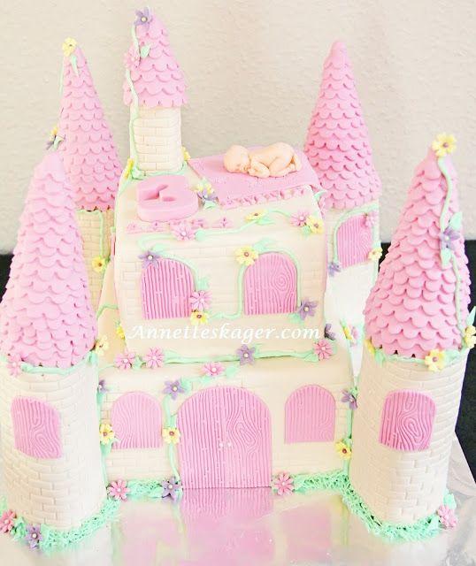 Birthday cake and christening cake for my 2 girls.