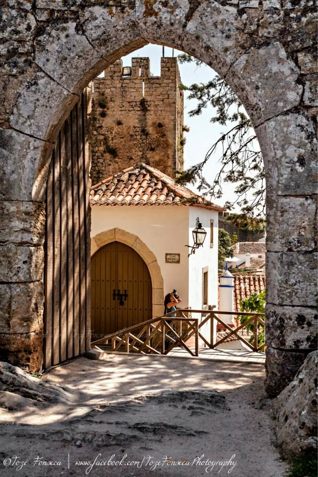 Óbidos a village inside a medieval castle & walls #Portugal