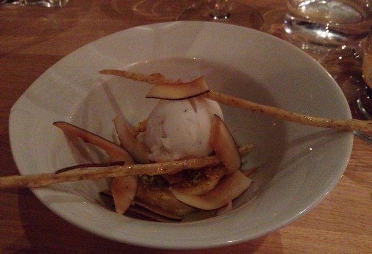 Lime and ginger brulee. #Pastor #Helsinki #dinner #experience Nam!