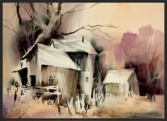 Late Day by sterling edwards Watercolor ~ 22 x 30 ...