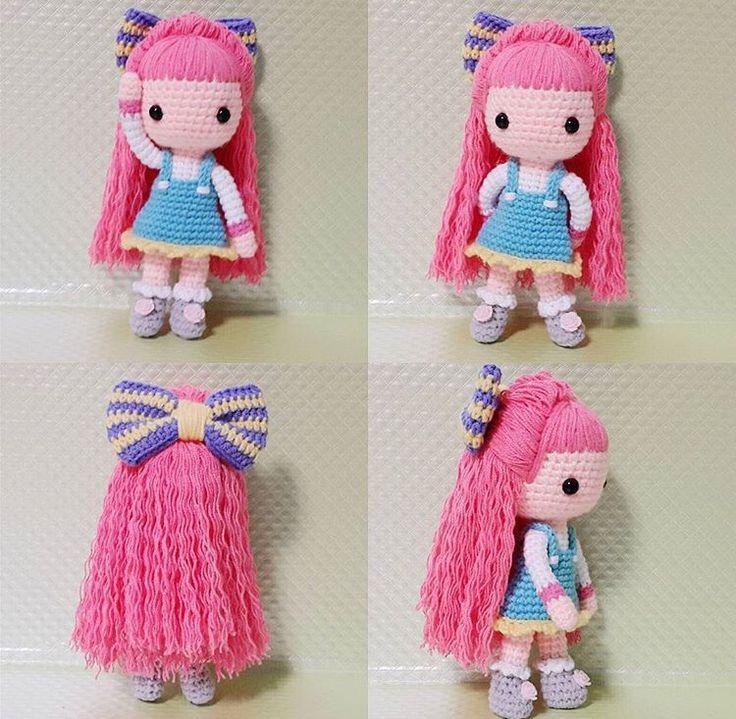 Amigurumi Doll Making : 150 best images about Amigurumi: Doll Hair on Pinterest ...