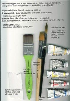 GÅ PÅ KURS & DATUM - Elenor Krantz . BLOGG & Konst & Kurser & Kalligrafi & Keramik & Akvarell & Hantverk & Fritt broderi & Aforismer.