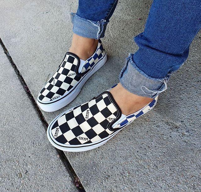JOURNEYS | Vans Slip On Big Checkerboard Logo -- photo credit ...