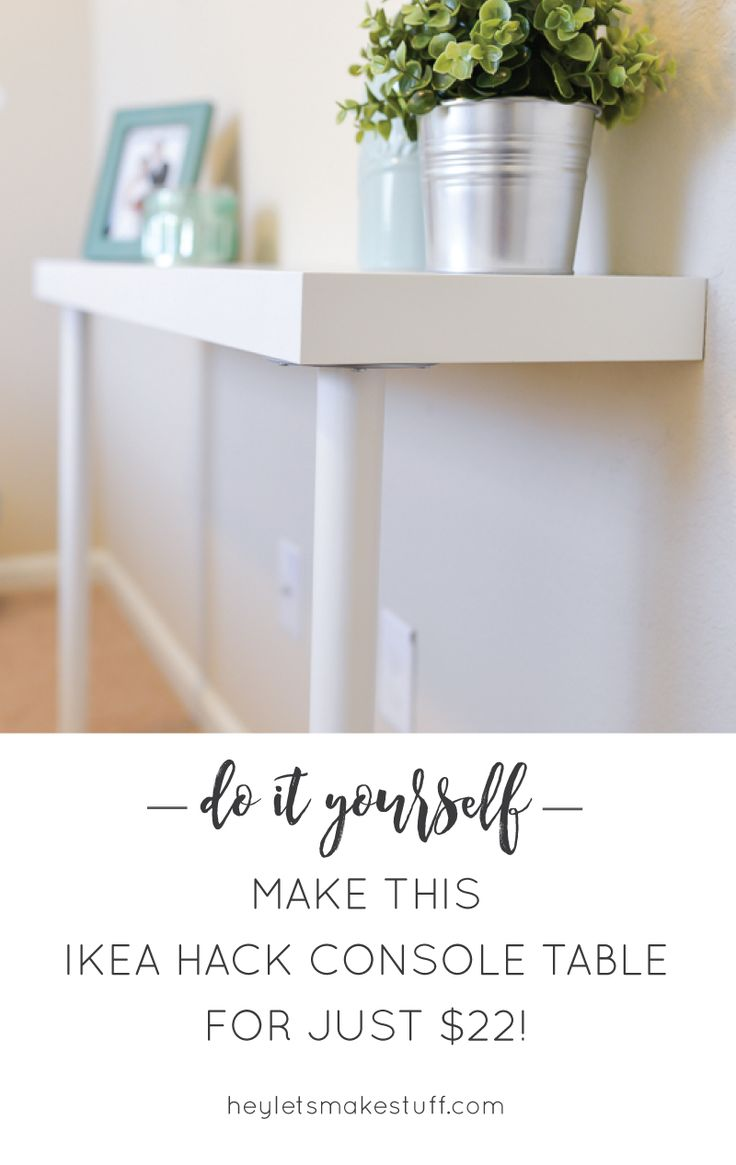 Best 25 ikea console table ideas on pinterest entryway table need a storage table but short on space you can hack together this ikea console geotapseo Images