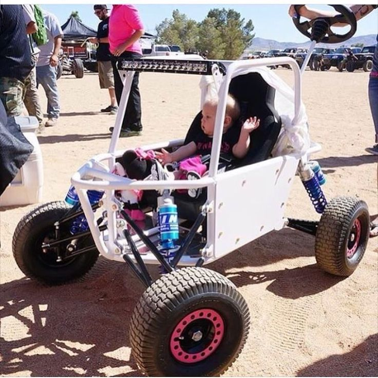 Check out this custom fabricated baby stroller. With wind