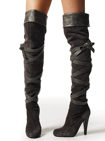 Black, suede over-the-knee boots. oh. my. gosh