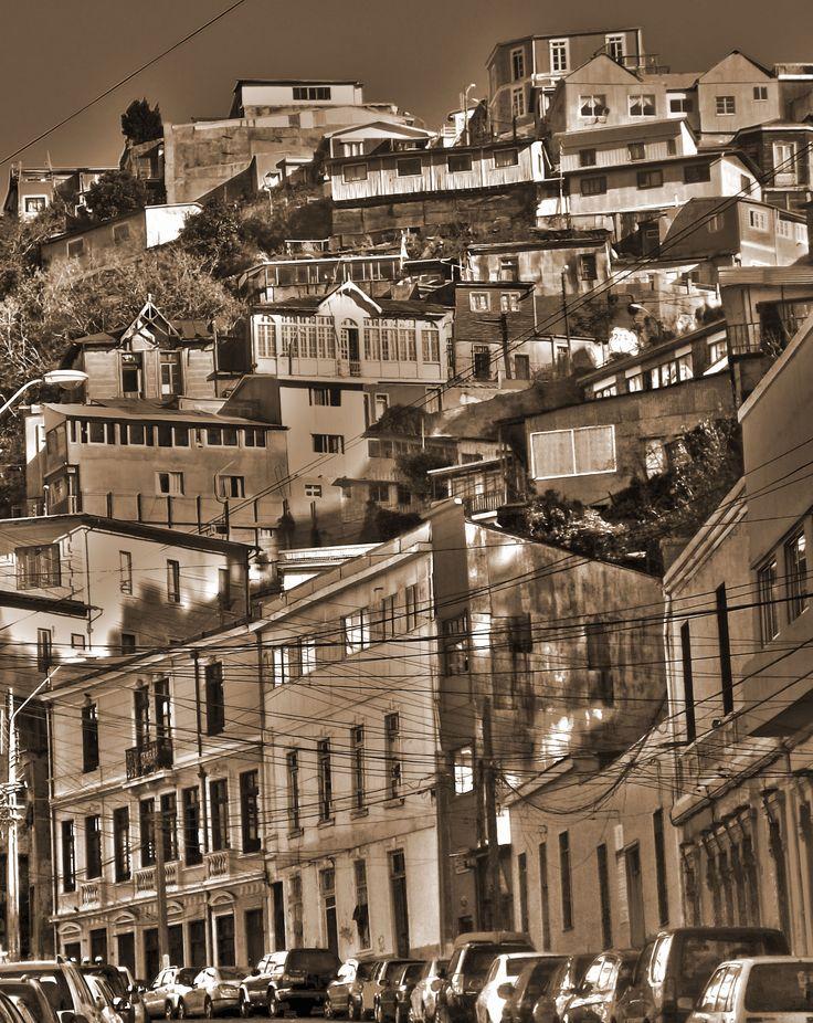 Un cerro de Valparaíso.