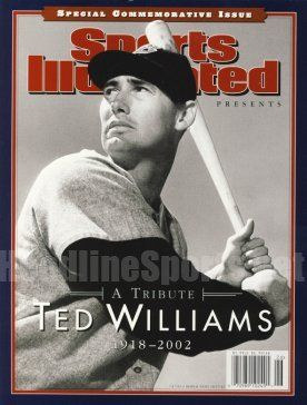 "2002 Ted Williams Boston Red Sox Commemorative Sports Illustrated . $15.95. BR>1213 Boyles Houston, Tx 77020 713.672.2793 Date: 2002 Cover: Ted Williams - Boston Red Sox (No Mailing Label) Condition: (Newsstand) This is an original Sports Illustrated Magazine from the above date. This is the entire commemorative magazine with no mailing label. Feel free to check out our ""Me"" page above for a link to the nation's largest inventory of back-issue Sports Illustrated mag..."