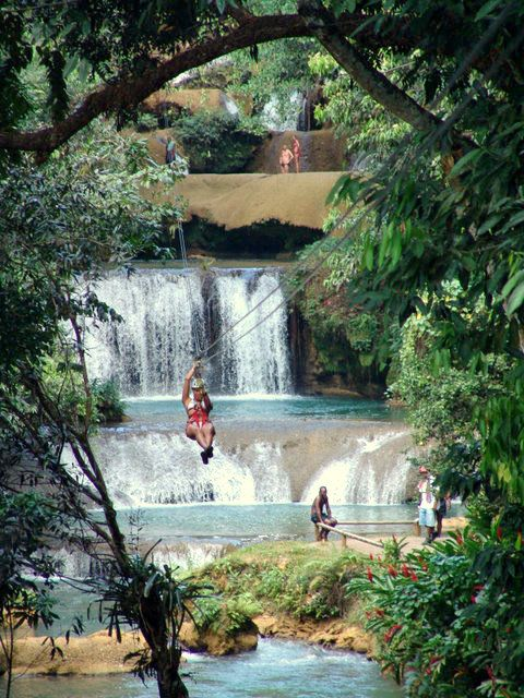 Pushed through one of many biggest fears here -- Ziplining at YS Falls, Negril, Jamaica.