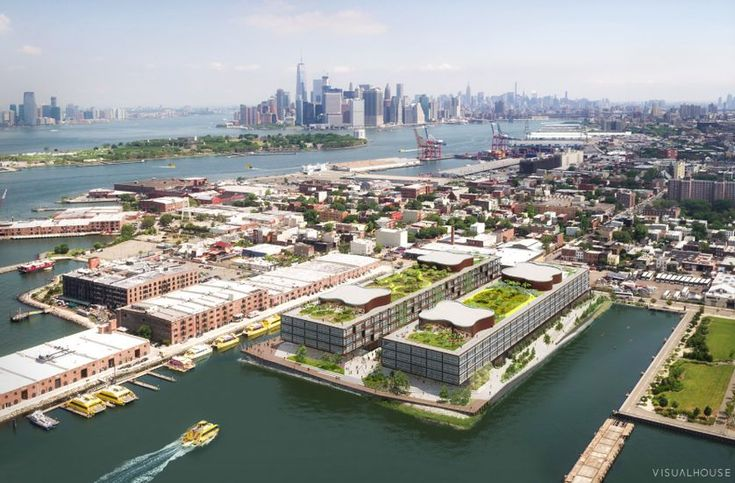 Landscape architect's 'genius' work recognized by MacArthur Foundation Kate Orff calls on nature to beautify and protect cities. / Overhead view of Red Hoek Point, a development in Red Hook, Brooklyn