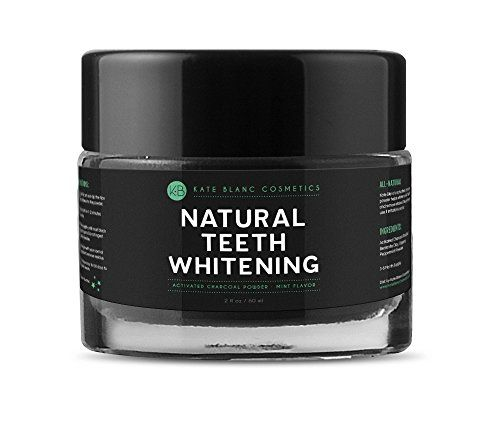 Teeth Whitening Kit | Natural Teeth Whitening Activated Charcoal Powder 2oz by Kate Blanc Bentonite Clay  Organic Peppermint for Mint Flavor Removes Stain Plague  Bad Breath Healthier Whiter Teeth  Gum -- Find out more about the great product at the image link. Note:It is Affiliate Link to Amazon.