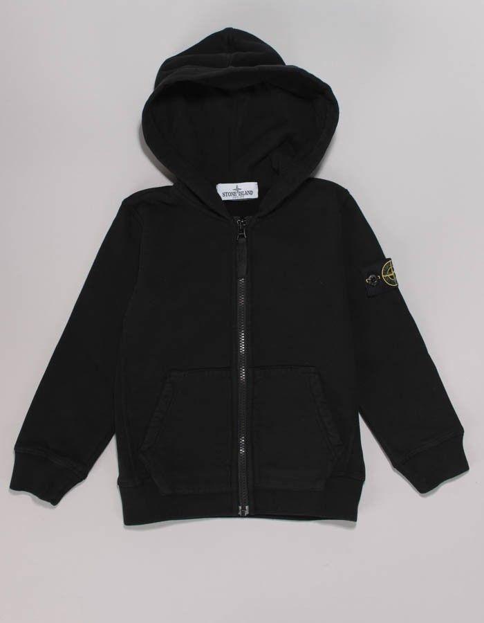 Stone Island Junior Black Basic Hoody | Accent Clothing