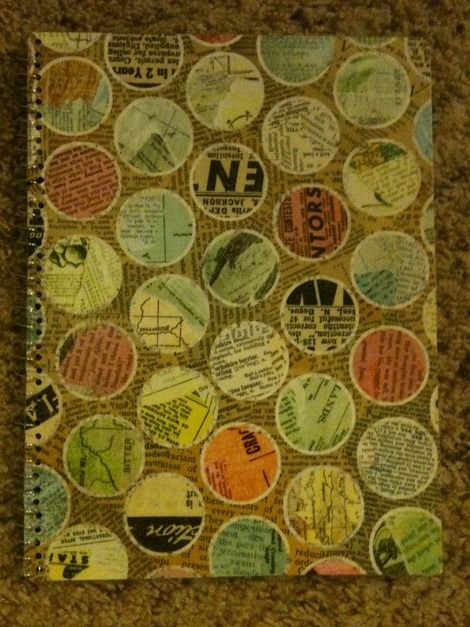 easy DIY spiral notebook covers