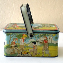 1920's Tin Lithograph Girl Scouts Lunch Box