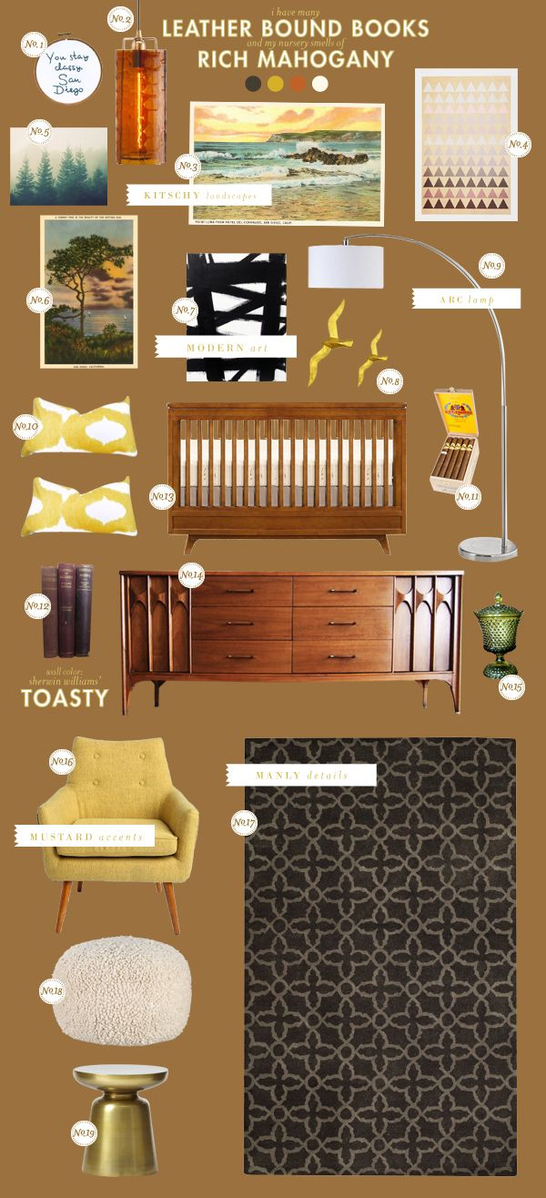 life imitates art - rustic, posh, nature, graphic, smart - anchorman movie nursery inspiration