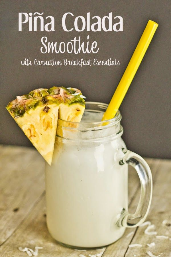 Free Time Frolics: Pina Colada Smoothie with Carnation Breakfast Essentials