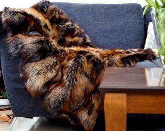 crystal fox blanket throws