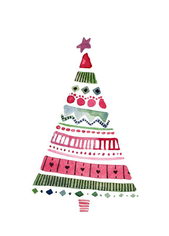 Картинка елки для открытки, открытка