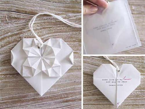 origami wedding invitation ideas