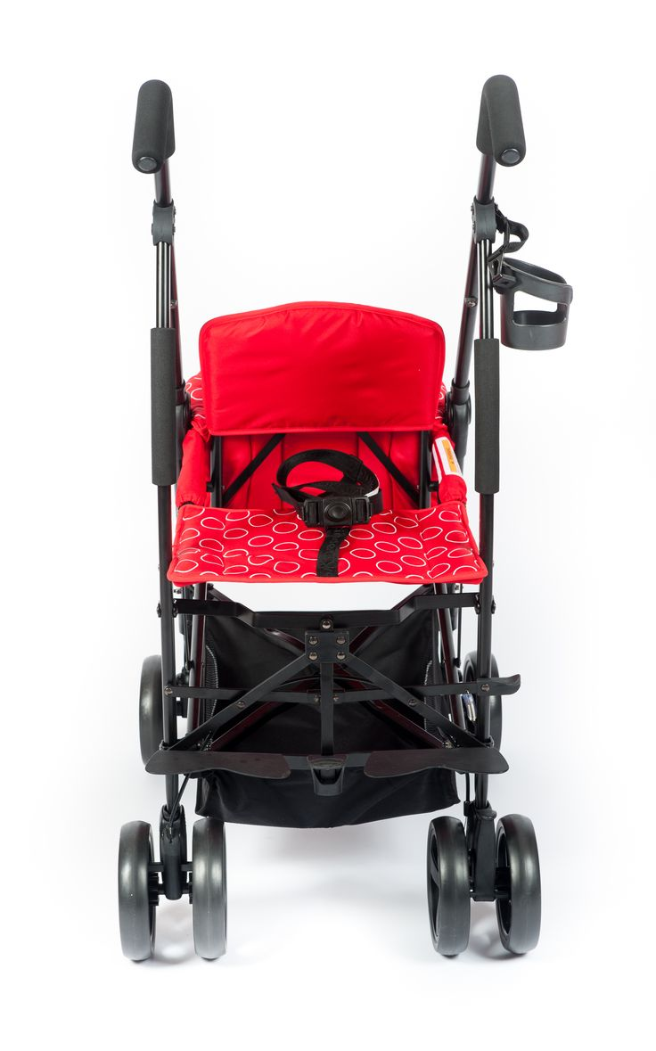 Kinderwagon Jump double compact stroller. Shown here is