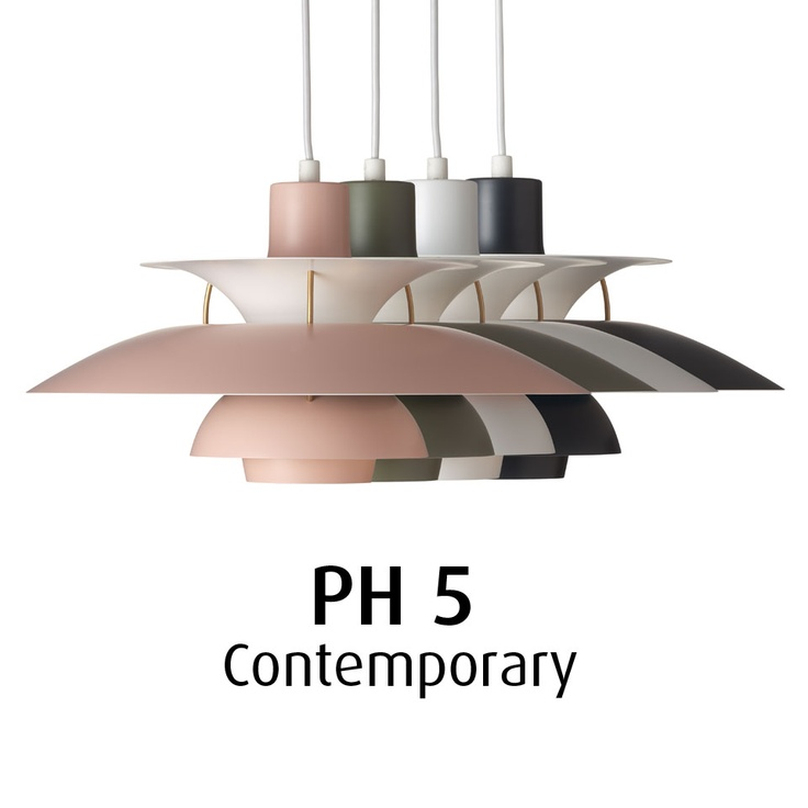 Louis Poulsen news in April 2013 - PH5 in a new and different colour range.    Louis Poulsen has launched a new colour range for the design icon – PH 5 – matching contemporary hues and trends. Its ability to adapt to all types of interiors remains unique but the new colour range makes the role of the lighting in the overall interior design more pronounced.  For more information and inspiration have a look here: www.shop.louispoulsen.dk